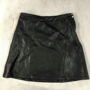 Zara Pleather Skirt Sz M NWT